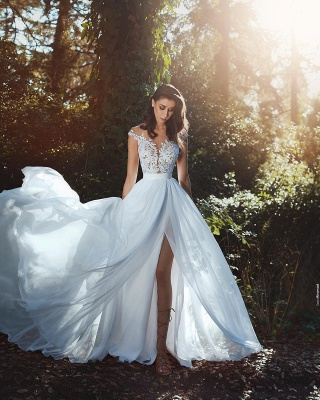 Cheap Summer Beach Boho Wedding Dresses With Lace_5