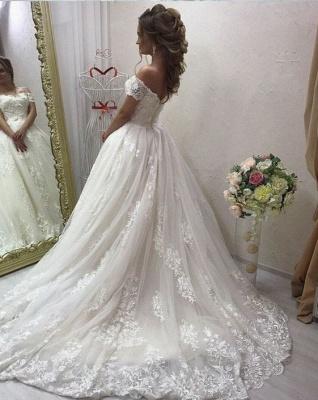Elegante Brautkleider Creme A Linie Spitze Hochzeitskleider Günstig Online_2