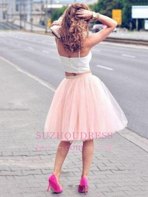Cheap White Pink Cocktail Dresses Short Späghetti Party Dresses Prom Dresses_1