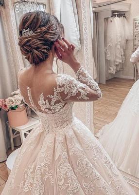 Fashion Brautkleider A Linie Mit Ärmel | Hochzeitskleider Günstig Online_2