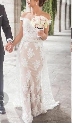 Elegante Abendkleider Lang Weiß | Abiballkleider Abendkleid Spitze Günstig_1