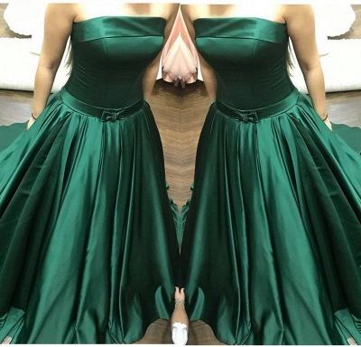 Dark green evening dresses long cheap prom dresses online_2