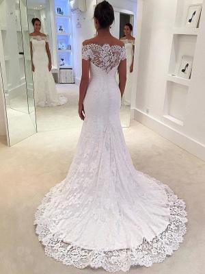 Elegant mermaid wedding dresses | Wedding dresses with lace sleeves_1