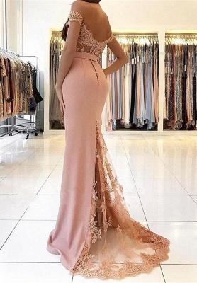 Abendkleid Lang Rosa | Abendkleider mit Spitze Günstig_1