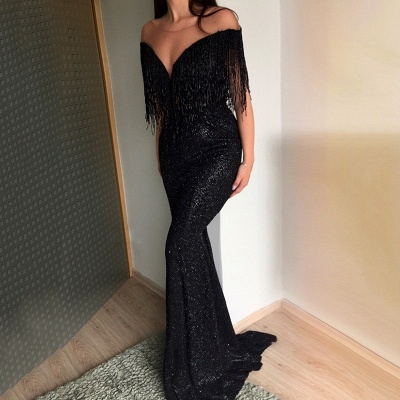 Elegant Black Long Evening Dresses | Prom Dresses Cheap Online_4