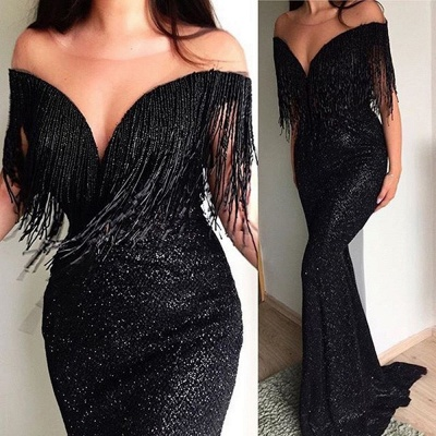 Elegant Black Long Evening Dresses | Prom Dresses Cheap Online_2
