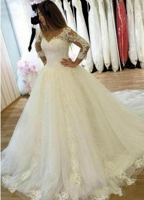 Elegant wedding dresses with sleeves | Wedding dresses lace cheap online_1