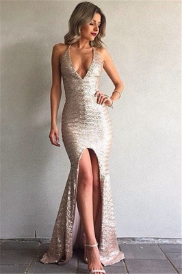 Cheap Evening Dresses Online Mermaid Sequin Evening Wear Prom Dresses_1