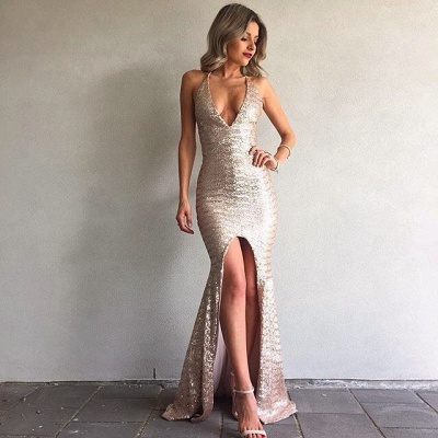 Cheap Evening Dresses Online Mermaid Sequin Evening Wear Prom Dresses_3