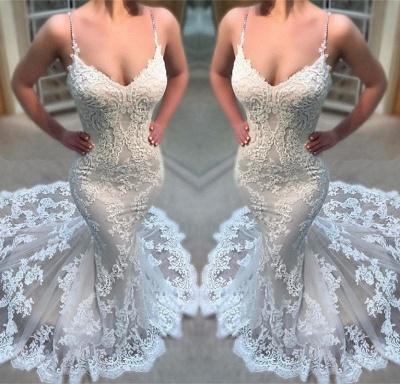 Günstige Hochzeitskleider Spitze Spaghetti Träger Hochzeitskleider Online Kaufen_2