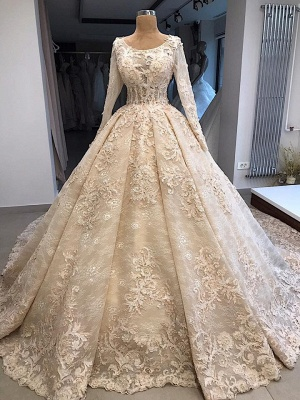 Vintage wedding dress with lace | Wedding dress with sleeves online_1