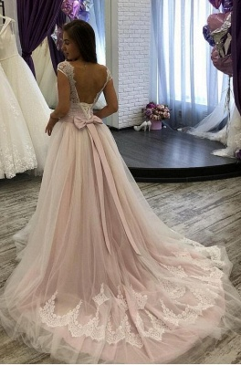 Simple wedding dresses with lace | Buy a line bridal fashion online_2
