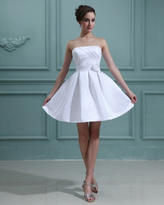 Sweet Wedding Dresses Short White A Line Mini Wedding Dresses Bridal_2