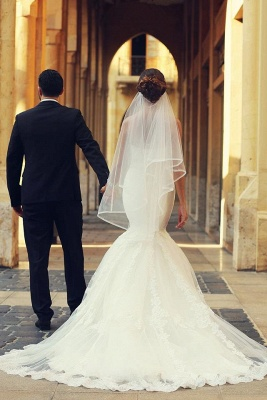 Simple wedding dresses lace | Mermaid wedding dresses cheap online_4