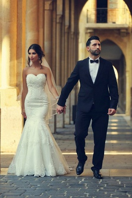 Simple wedding dresses lace | Mermaid wedding dresses cheap online_5