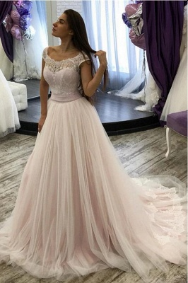 Simple wedding dresses with lace | Buy a line bridal fashion online_1