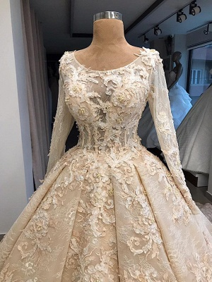Vintage wedding dress with lace | Wedding dress with sleeves online_2
