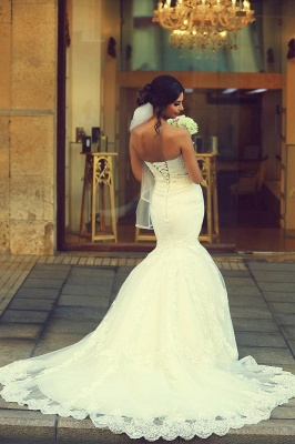 Simple wedding dresses lace | Mermaid wedding dresses cheap online_2