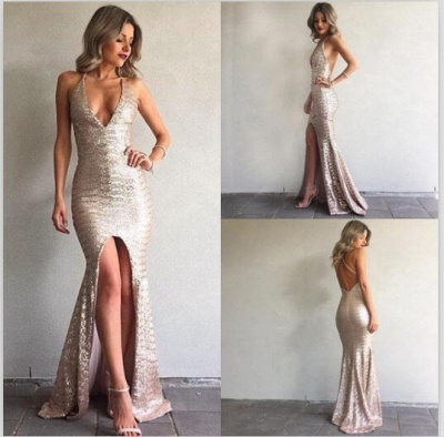 Cheap Evening Dresses Online Mermaid Sequin Evening Wear Prom Dresses_2