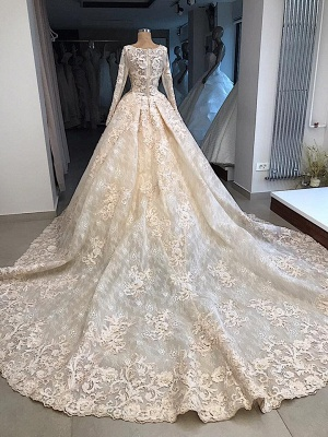 Vintage wedding dress with lace | Wedding dress with sleeves online_3
