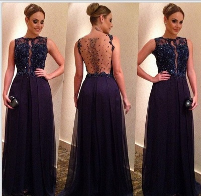 Black long evening dresses with lace tulle prom dresses prom dress_2
