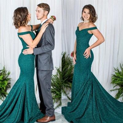 Grüne Abendkleider Lang Günstig Pailletten Kleider Abiballkleider Online_2