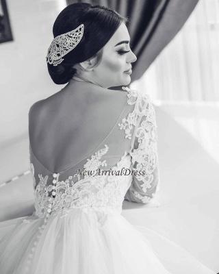 Fashion Brautkleider Mit Ärmel Spitze A Linie Hochzeitskleider Große Größe_3