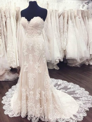 Simple Wedding Dresses With Lace Heart A Line Wedding Dresses Buy Online_1