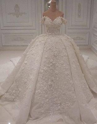 Luxus Hochzeitskleid Spitze | Prinzessin Brautkleid Günstig Online_1