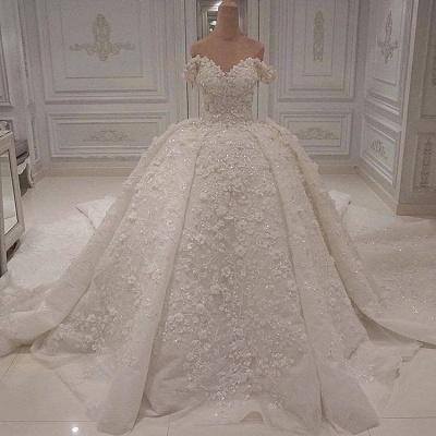 Luxus Hochzeitskleid Spitze | Prinzessin Brautkleid Günstig Online_2