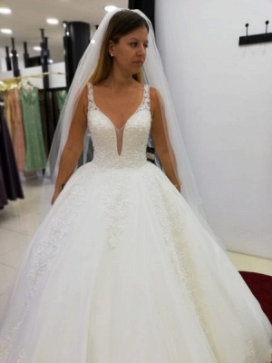 Cheap wedding dresses princess | Wedding dresses with lace online_1