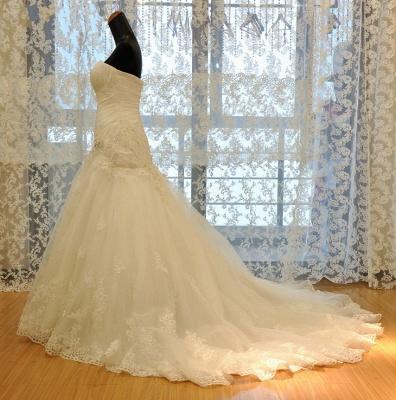Wedding dresses cream lace mermaid wedding dresses with train bridal dresses online_2