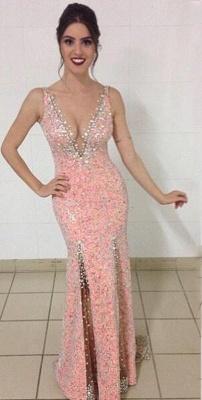 Nachmäßig Rosa Abendkleider Abschlussballkleider Lang Träger Günstig Partykleider Online_1