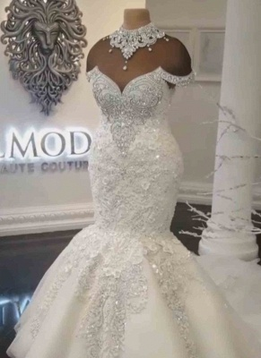 Luxurious  Wedding Dresses Lace | Mermaid Wedding Gowns_2