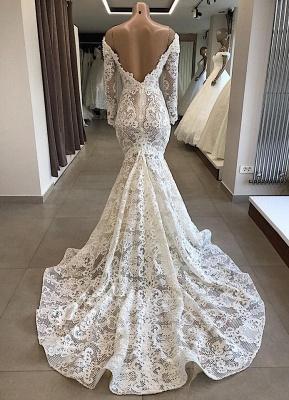 Spitze Brautkleid Meerjungfrau | Hochzeitskleider Mit Ärmel Günstig_2