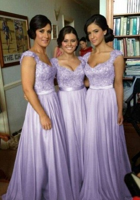 Chiffon bridesmaid dress | Purple bridesmaid dress long_2