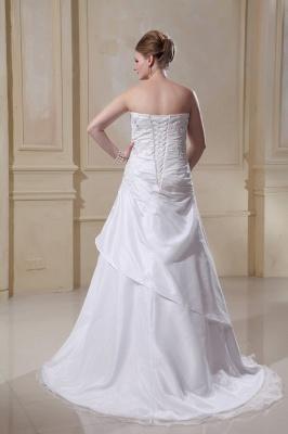 Weiß Hochzeitskleider Große Größe Meerjungfrau Satin Übergröße Brautkleider Nach Mäßig_5