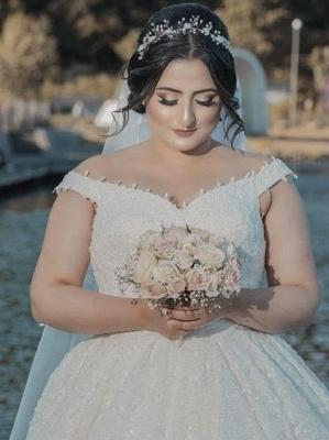 Elegante Hochzeitskleider Große Größen | A Linie Brautkleid Übergröße_1