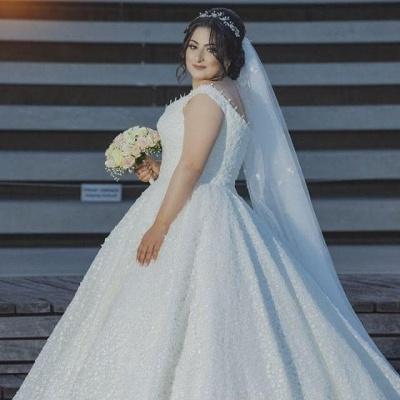 Elegante Hochzeitskleider Große Größen | A Linie Brautkleid Übergröße_4