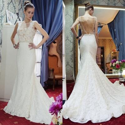 Günstige Hochzeitskleider Spitze Meerjungfrau Brautkleid Online Bestellen_2