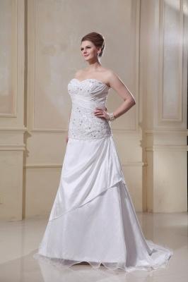 Weiß Hochzeitskleider Große Größe Meerjungfrau Satin Übergröße Brautkleider Nach Mäßig_4