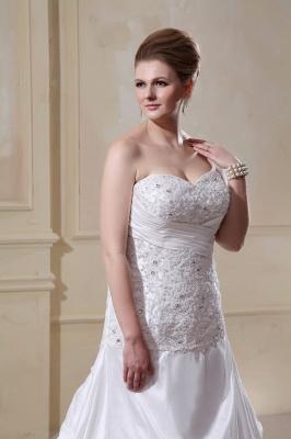 Weiß Hochzeitskleider Große Größe Meerjungfrau Satin Übergröße Brautkleider Nach Mäßig_2