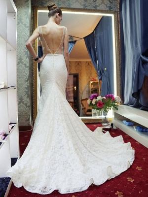 Günstige Hochzeitskleider Spitze Meerjungfrau Brautkleid Online Bestellen_3
