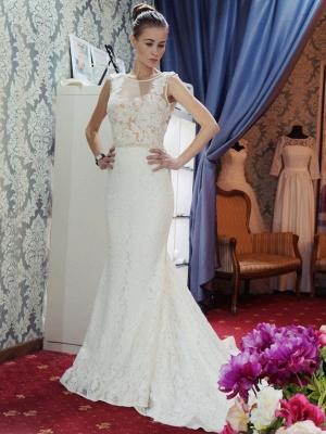 Günstige Hochzeitskleider Spitze Meerjungfrau Brautkleid Online Bestellen_1