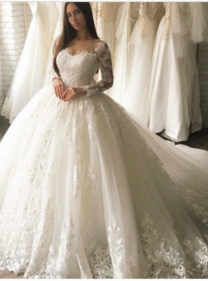 Sell Wedding Dresses With Sleeves A Line Lace Wedding Dresses Online_1