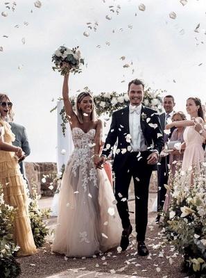 Hochzeitskleider Prinzessin Spitze | Brautkleid A Linie Online_3