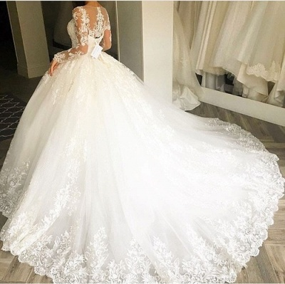 Sell Wedding Dresses With Sleeves A Line Lace Wedding Dresses Online_2