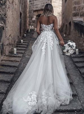 Hochzeitskleider Prinzessin Spitze | Brautkleid A Linie Online_2