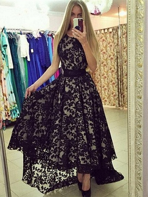 White Evening Dresses With Sleeves Short Long Evening Wear Prom Dresses_2