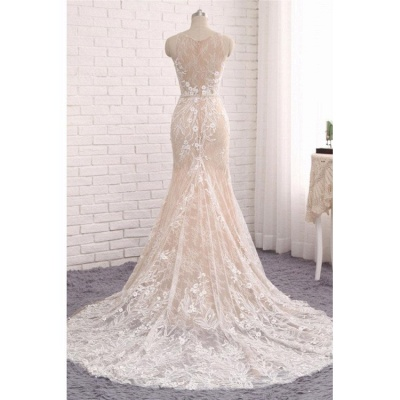 Designer wedding dresses lace | White mermaid wedding dresses online_3